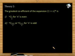 Binomial Theorem - Numerically Greatest Coefficient (Session 4)