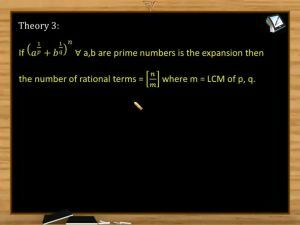 Binomial Theorem - Rational Terms (Session 4)