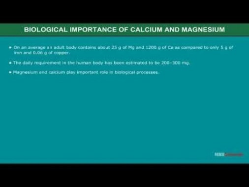 Class 11 Chemistry - Biological Importance Of Calcium And Magnesium Video by MBD Publishers