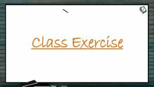 Body Fluids And Circulation - Class Exercise (Session 9)