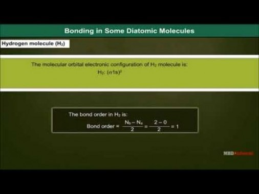 Class 11 Chemistry - Bonding In Some Diatomic Molecules Video by MBD Publishers