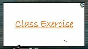 Carboxylic Acid - Class Exercise (Session 1)