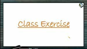 Centre of Mass - Class Exercise (Session 2)