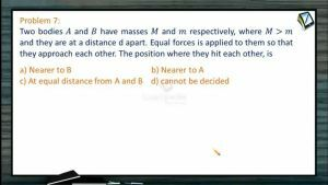 Centre of Mass - Examples-II (Session 6)