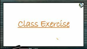 Change Of Axes - Class Exercise (Session 2)