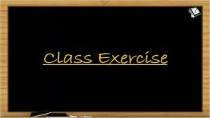 Chemical Bonding - Class Exercise (Session 1)