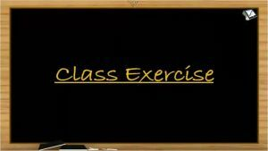 Chemical Bonding - Class Exercise (Session 6)