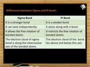 Chemical Bonding - Differences Between Sigma And Pi Bond (Session 5)