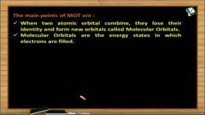 Chemical Bonding - Postulates Of Mot (Session 12)