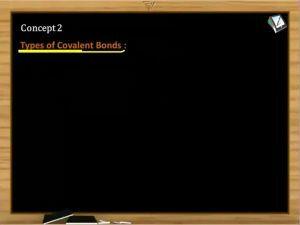 Chemical Bonding - Types Of Covalent Bonds (Session 3)