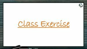 Chemical Coordination - Class Exercise (Session 2)