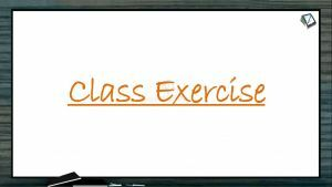 Chemical Coordination - Class Exercise (Session 4)
