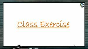 Chemistry in Every Day Life - Class Exercise (Session 1)