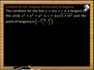 Circle - Condition And Point Of Tangency Length Of Tangent (Session 4 & 5)