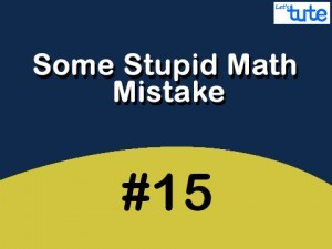 Some Stupid Math Mistake - Circle Video by Lets Tute