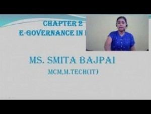 Computer Science And IT - E-Governance In India Chapter-II Part I Video by Pluto Innovations