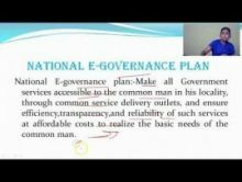 Computer Science And IT - E-Governance In India Chapter-II Part VI Video by Pluto Innovations