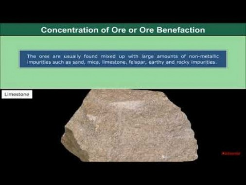 Class 12 Chemistry - Concentration Of Ores Or Ore Benefaction Video by MBD Publishers