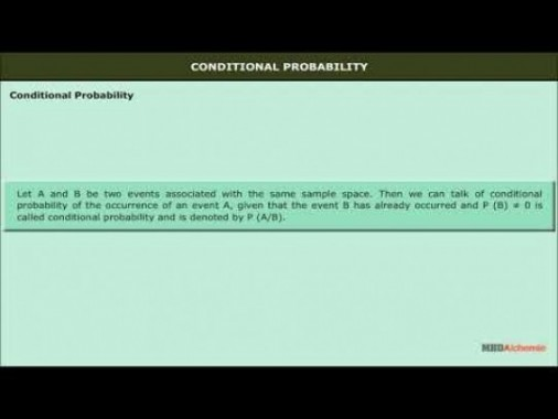 Class 12 Maths - Conditional Probability Video by MBD Publishers
