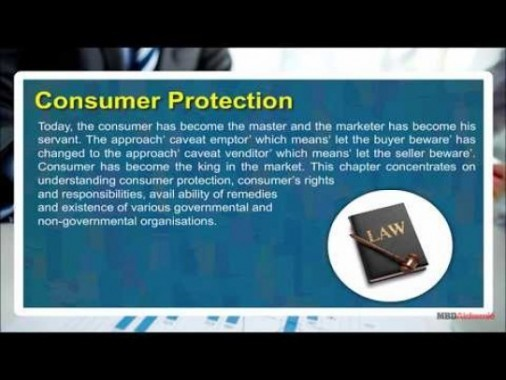 Class 12 Business - Consumer Protection Video by MBD Publishers