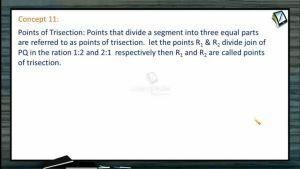 Coordinate System - Points Of Trisection (Session 1)