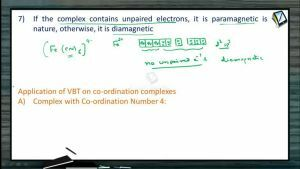 Coordination Compounds - Application Of VBT On Co-ordination Complexes And Tetrahedral Complexes (Session 6)