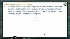 Coordination Compounds - Drawbacks Of Valence Bond Theory (Session 6)