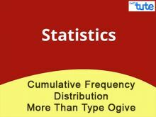 Class 10 Mathematics - Cumulative Frequency Distribution - More Than Type Ogive Video by Lets Tute