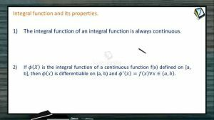 Definite Integrals - Integral Function And Its Properties (Session 7)