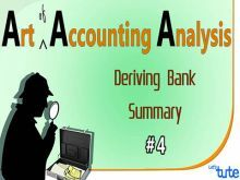 Class 11 & 12 Accountancy - Deriving Bank Summary Video by Let's Tute