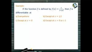 Differentiability - Examples (Session 1)