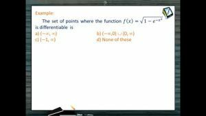 Differentiability - Problems 1 (Session 2)