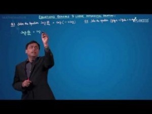 Differential Equations - Equation Reducible To Linear Differential Equation-II Video By Plancess
