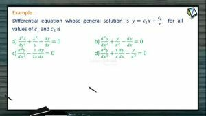 Differential Equations - Example 1 (Session 1)