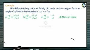 Differential Equations - Example 2 (Session 1)