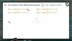 Differential Equations - Problems (Session 2)