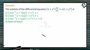 Differential Equations - Variables Separables With Example 1 (Session 2)