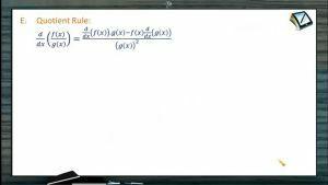 Differentiation - Quotient Rule (Session 1)