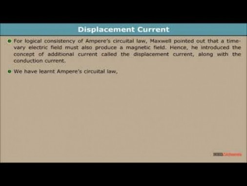 Class 12 Physics - Displacement Current Video by MBD Publishers
