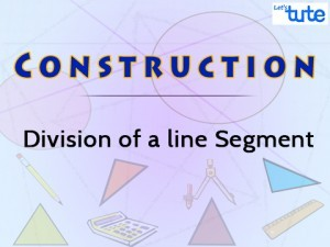 c5901869607f Construction - Division Of A Line Segment Video By Lets Tute