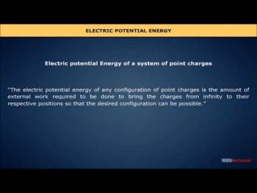Class 12 Physics - Electric Potential Energy Video by MBD Publishers