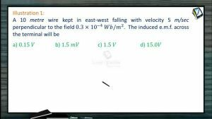 Electro Magnetic Induction - Illustrations (Session 2)