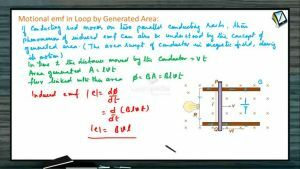 Electro Magnetic Induction - Motional Emf In Loop By Generated Area (Session 2)