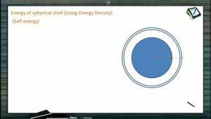Electrostatics - Energy Of Spherical Shell (Session 14)