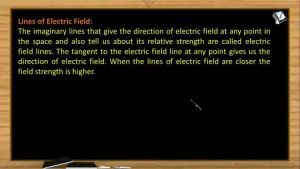 Electrostatics - Lines Of Electric Field (Session 3)