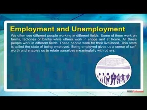 Class 11 Economics - Employment And Unemployment Video by MBD Publishers