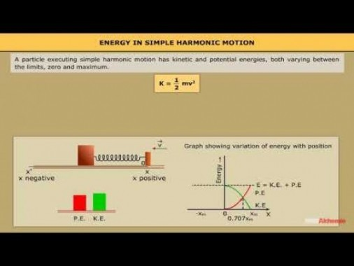 Class 11 Physics - Energy In Simple Harmonic Motion Video by MBD Publishers