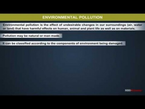 Class 11 Chemistry - Environmental Pollution Video by MBD Publishers