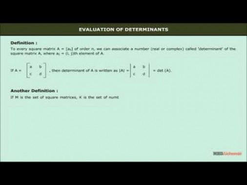 Class 12 Maths - Evaluation Of Determinant Video by MBD Publishers