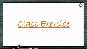 Excretion And Osmoregulation - Class Exercise (Session 1)